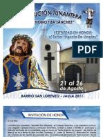 Invitación de la Institucion Tunantera Zenobio Tiza