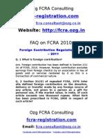 fcra-registration.com || FAQ on FCRA 2010 || FCRA Registration || FCRA Return | FCRA Online || FCRA Offence || FCRA Penalty