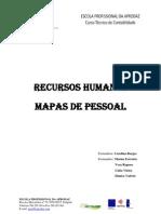 Trabalho de Grupo sobre Mapas de Pessoal