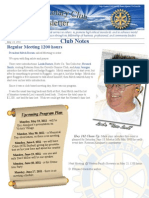 May 16, 2011 Newsletter