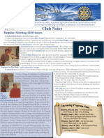 May 23, 2011 Newsletter