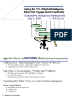 2003 Demonstrating ROI of Market Intelligence