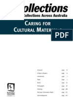 Caring for Cultural Material 1