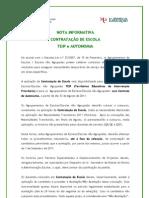 Nota Informativa Contratação de Escola – TEIP e AUTONOMIA; 2011.ago.12