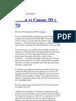 Comparacion 5D y 7D