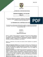 Decreto 1737 de 2005