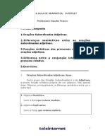 Gramática - Aula 08 - Período Composto II