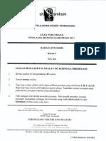 PMR Percubaan 2011 Terengganu (BI P1)