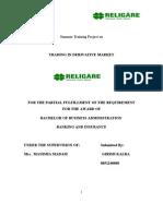 -Religare-trading in Deriavtive Market