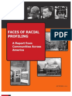 FACES OF RACIAL PROFILING A Report from Communities Across America-SEPTEMBER 2010