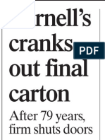 Yarnell's Cranks Out Final Carton