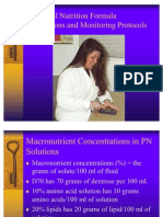 Parenteral Nutrition Calculations