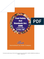 Ilbco's Food Safety Standards Act (3rd Edition 2009) Published by Rajan Nijhawan