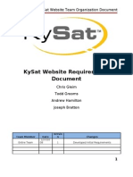 KySat Website Team Organization Document