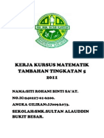 Kerja Kursus Matematik Tambahan 2011