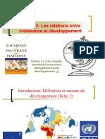 Thème 2- les relations entre croissance et développement économique 2011-2012