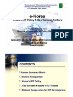 E-Korea - Korea ICT Policy and Key Success Factors
