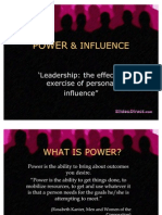 POWER & INFLUENCE