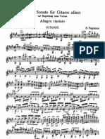Gran Sonata Para Guitarra Con Acompañamiento de Violin de Paganini 1er Mov.