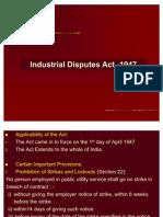 IR-1 Industrial Disputes Act