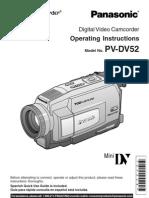 Panasonic PVDV52 Manual