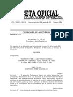 to de Ley Organica de La Contraloria General y Sistema Nacional de Control Interno