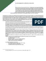 Sociología y Antropología de la socialización y la educación