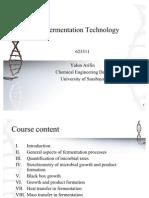 Fermentation Technology Chapter i II III IV