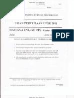 Percubaan UPSR 2011 - Bahasa Inggeris ( Kedah ) Kertas 1