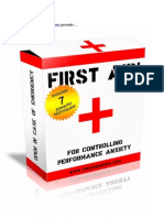 1st Aid for Controlling Performance Anxiety