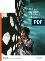 AED and Education in Contexts of Fragility Providing Support to Education Over the Long Haul