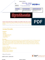 Explosives Synthesis
