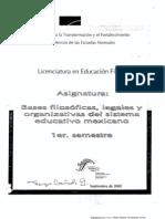 Bases Filosoficas Legales y Organizativas Del Sis. Educ. Mexicano