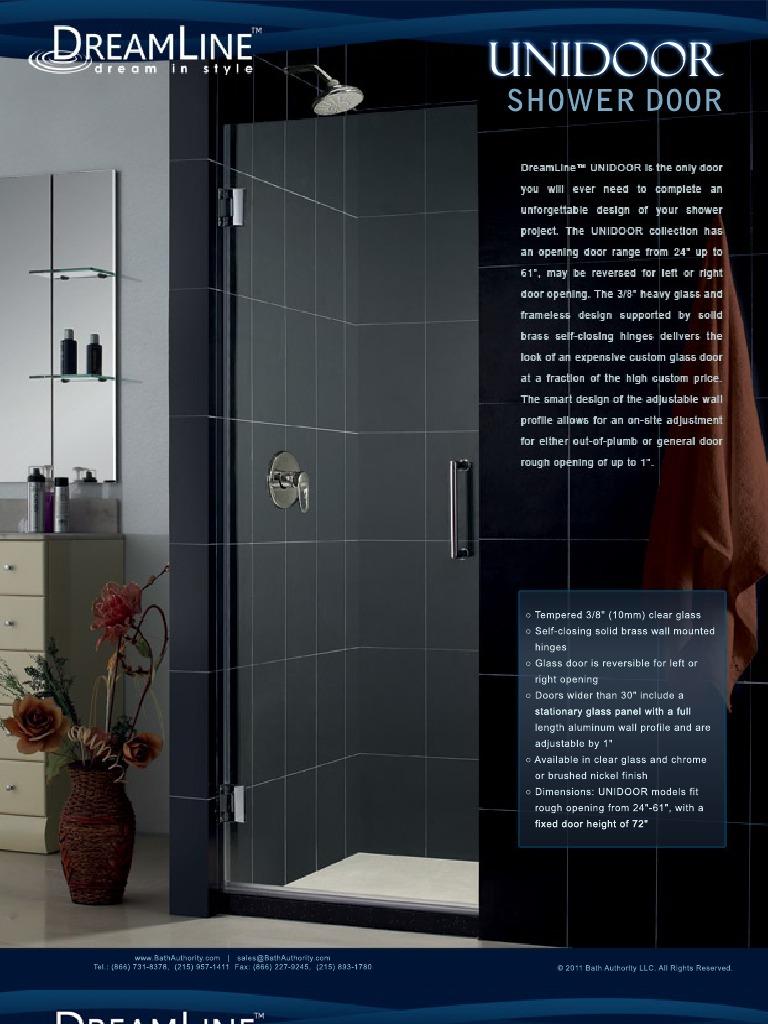 Dreamline Showers Shower Doors Unidoor