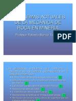 Problemas Actuales de La Mecanica de Rocas en Mineria