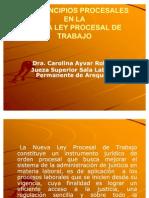 Los Principios Procesales Nueva Ley Procesal de Trabajo - Ley 29497 - Dra. Carolina Ayvar Roldan