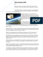 Perú lanzó Satélite Chasqui el 2010