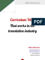 How to Write a Translator's CV