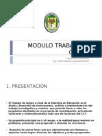 A1 Presentacion Modulo TRABAJO de CAMPO