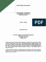 Mishkin 1996 the Channels of Monetary Transmission