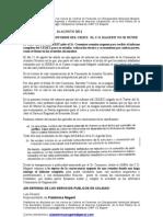NOTA DE PRENSA - CONCLUSIONES DEL INFORME DEL CEDEX (13/08/11)