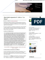 """Movidas Varias_ Marciniak expuesta II_ Culto a """"La Diosa"""""""