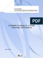 Release 1 LMT40107 Certificate IV in Textile Technology and Production