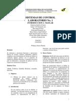 Primer Informe Control
