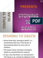 2. Stonning to Death