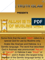 13. Allah is the God of Muslims Only