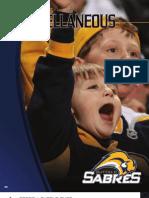 2008-2009 Buffalo Sabres Media Guide Miscelleanous