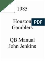 84 Gamblers QB Manual John Jenkins