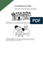 Participación comunitaria en salud