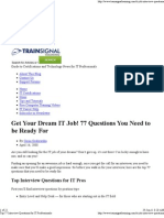 Top 77 Interview Questions for IT Professionals
